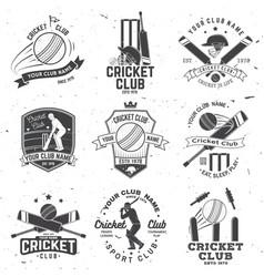 Set cricket club badges concept for vector
