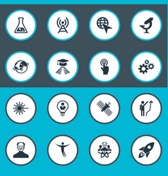 Set of simple solution icons vector