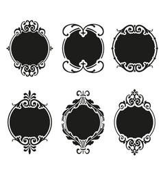 set round and circular decorative patterns vector image