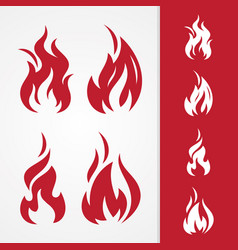set tribal flame vector image