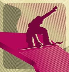 Snowboarding sport vector