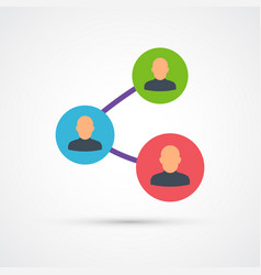 social network trendy symbol trendy colored vector image