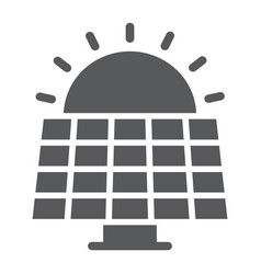 solar panel glyph icon ecology and energy vector image