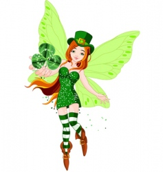 St Patrick's day fairy vector image