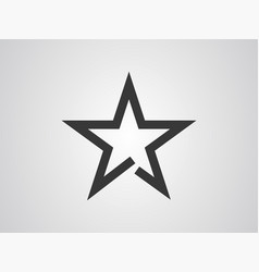 star icon sign symbol vector image