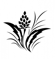 tattoo classical flower pattern vector image