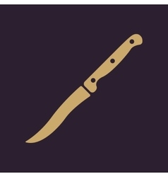 The knife for meat icon Knife and chef kitchen vector image