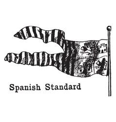 The spanish standard flag vintage vector
