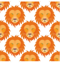 tiger head royal seamless pattern background vector image