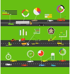 Transportation scheme vector image