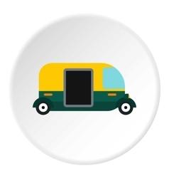 Tuk tuk taxi icon flat style vector