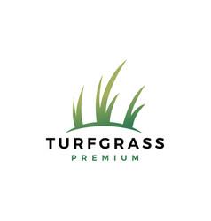 Turf grass logo icon vector