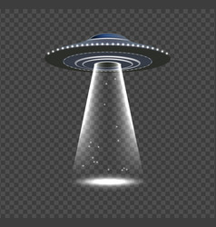 Ufo invasion alien spaceship realistic space vector