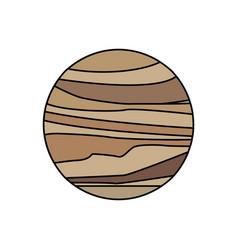 venus planet solar system galaxy vector image