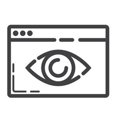 Web visibility line icon seo and development vector
