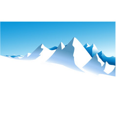 Winter white mountains vector