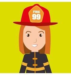 Woman fire helmet mask vector
