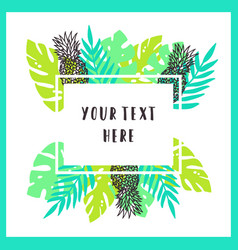 beautiful and bright tropical frame background vector image vector image