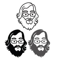 Geek Head vector image