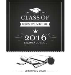 Graduation party invitation card vector image vector image