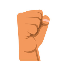 human raised fist symbol of rebellion militance vector image vector image