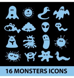 monsters icon collection eps10 vector image vector image