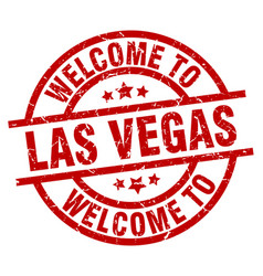 welcome to las vegas red stamp vector image vector image