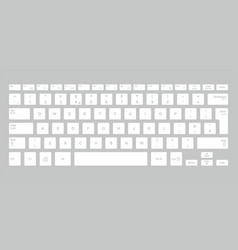 white computer keyboard vector image