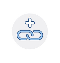 add hyperlink internet link plus web icon vector image vector image
