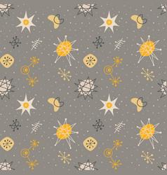 mid century modern seamless pattern vector image