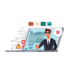 online computer security vector image vector image