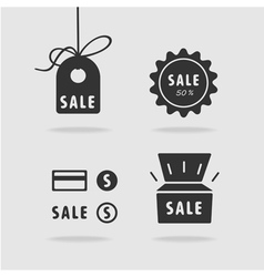 Set item sale vector image