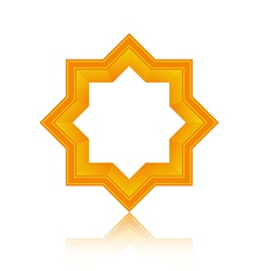 Abstract symmetric geometric icon vector image vector image