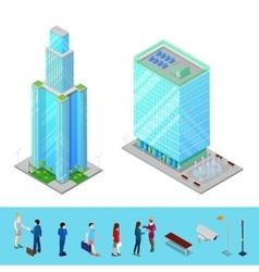 Isometric Skyscraper City Office Building vector image
