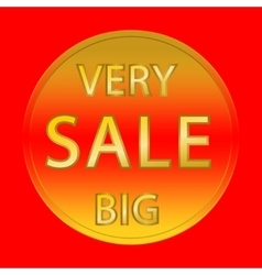 red sale button vector image vector image