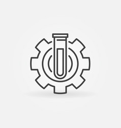 test tube in gear icon vector image vector image