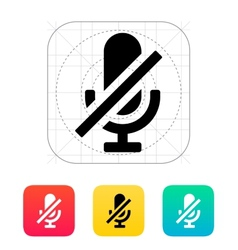Turn off microphone icon vector image vector image