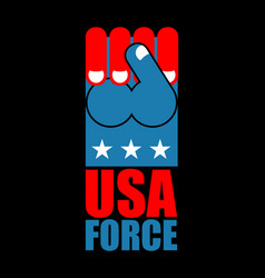 usa force hand american fist symbol of usa vector image vector image