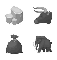 animal history and other monochrome icon in vector image