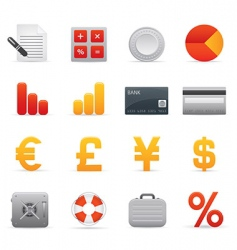 finance icons red vector image