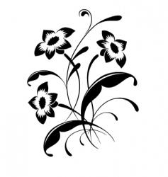 flower pattern tattoo vector image