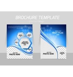 flyer template design vector image vector image