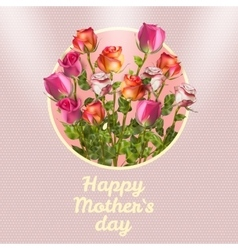 Happy Mothers Day Card EPS 10 vector image vector image