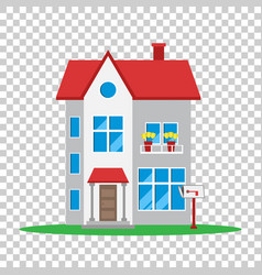 house in flat style on isolated background vector image