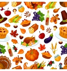 Thanksgiving day traditional celebration pattern vector image
