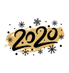 2020 happy new year with snowflakes creative vector image