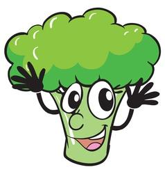 a broccoli vector image