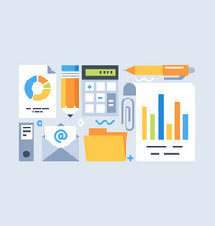 accounting tools set vector image