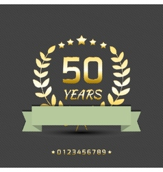anniversary golden sign vector image