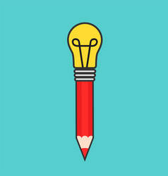 best idea concept design with pencil and electric vector image